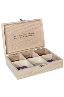 Personalised Traditional Tea Box
