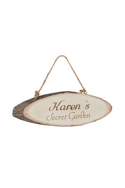Personalised Secret Garden Wooden Sign