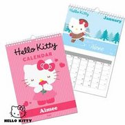 Personalised Hello Kitty Calendar
