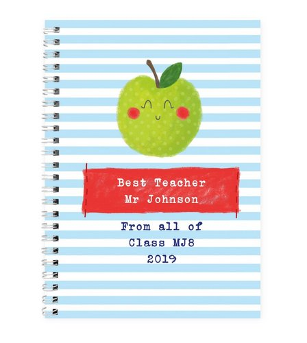 Image for Personalised Happy Apple Notebook from ace