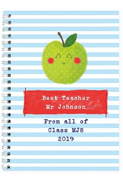Personalised Happy Apple Notebook