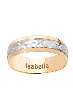 Personalised Kiss Wedding Band