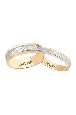 Personalised Kiss Wedding Band Offer