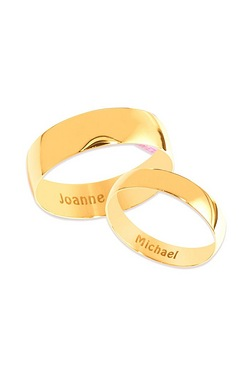 Personalised Polished Yellow Gold B...