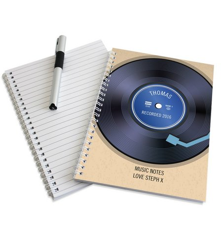 Image for Personalised Retro Vinyl Notebook from ace