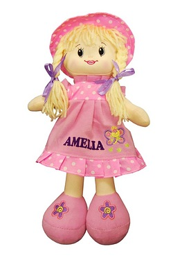 Personalised Pink Rag Doll