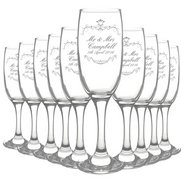 Ornate Swirl Toast Flutes - Pack of 10