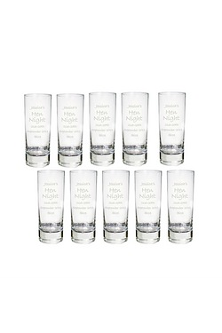 Pack Of 10 Engraved Shot Glasses