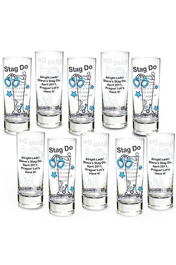 Personalised Stag Do Shot Glasses -...