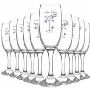 Hen Do Toast Flutes - Pack Of 10