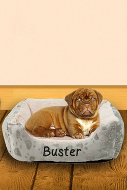 Personalised Cushioned Pet Bed