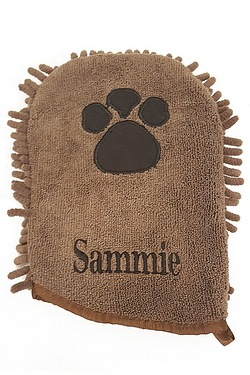 Personalised Micro Fibre Pet Mitt