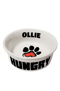 Personalised Small Paw Print Pet Bowl