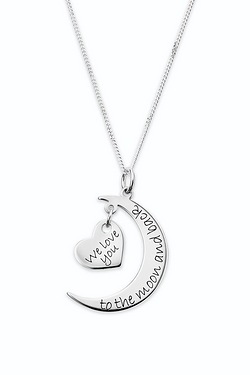 Personalised Love You Moon Pendant