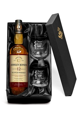 12 Year Old Malt Whisky & Glasses -...