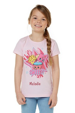 Girl's Personalised Shopkins T-Shirt