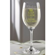 Personalised Keep Calm White Wine G...