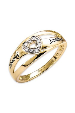 Personalised 9ct Heart Ring