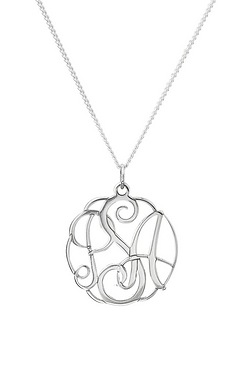 Silver Intertwined Initial Personal...