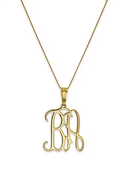 9ct Gold Personalised Intertwined P...
