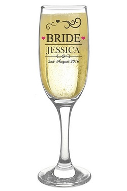 Personalised Mr & Mrs Bride Flute