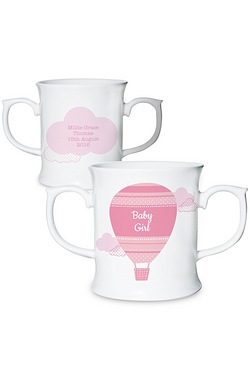 Personalised Girls Up & Away Mug