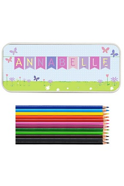Personalised Bunting Pencil Tin Wit...