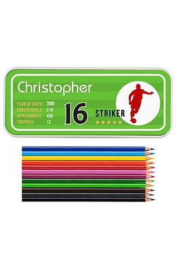 Personalised Team Player Pencil Tin...