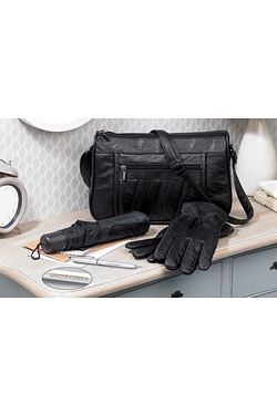 Leather Bag Set And Personalised Pen