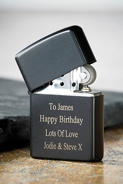 Personalised Black Petrol Lighter