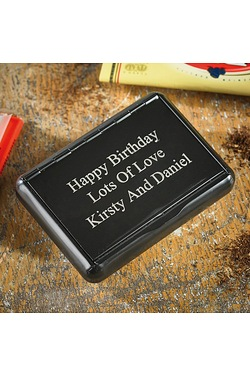 Personalised Black Tobacco Tin