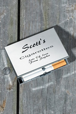 Personalised Silver Cigarette Holder