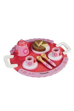 Personalised Pink Tea Set and Tray