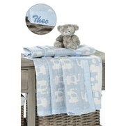 Personalised Elephant Jacquard Blanket