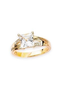 Personalised 9ct Princess Ring