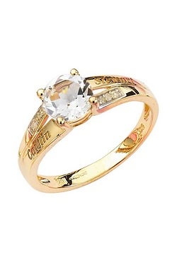 Personalised 9ct Gold Round Ring