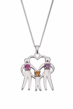 Family Of 3 Personalised Pendant