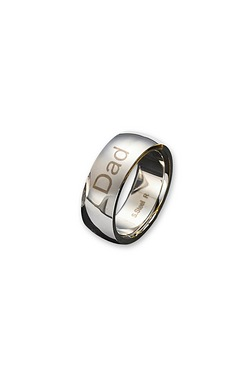 Sterling Steel Gents 8mm Band Ring ...