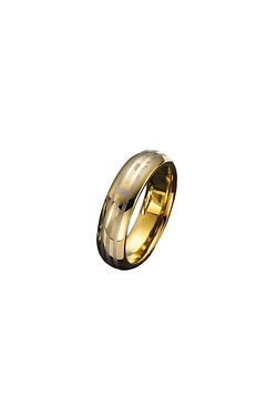 Gents Gold Strip Ring