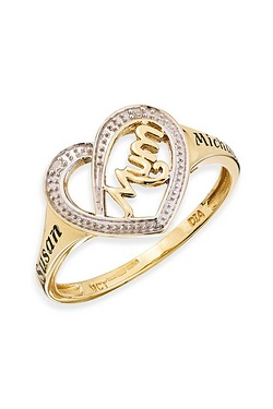 Personalised 9ct Mum Ring