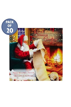 Santa's List Personalised Cards - F...