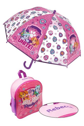 Image for Personalised Backpack and Brolly Set - Paw Patrol Girls from ace