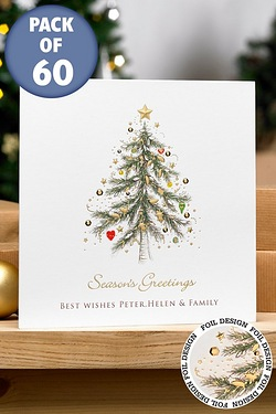 Foiled Golden Tree Cards - Front cover