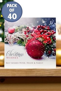 Merlot Christmas Cards - Front Cover