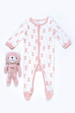 Baby's Sleepsuit With Personalised Toy