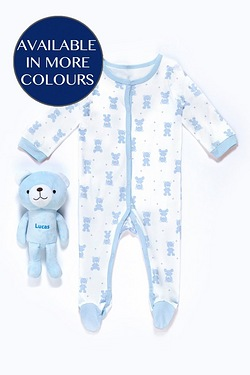 Babys Sleepsuit With Personalised Toy