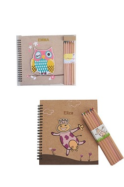 Personalised Wooden Book and Pencil...