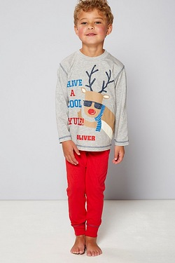 Boys Personalised Pyjamas - Reindeer Yule