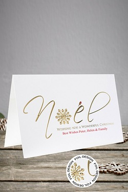 Front Personalised Noel Cards