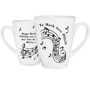 Musical Notes Latte Mug